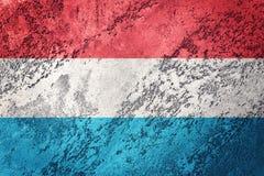 grunge bandery Luxembourg Luksemburg zaznacza z grunge teksturą Zdjęcia Royalty Free
