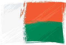 grunge bandery Madagaskaru Zdjęcie Stock