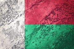 grunge bandery Madagaskaru Madagascar flaga z grunge teksturą Obrazy Royalty Free