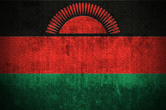 grunge bandery Malawi Obrazy Stock