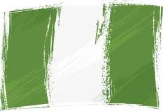 grunge bandery Nigeria Obraz Royalty Free