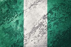 grunge bandery Nigeria Nigeria flaga z grunge teksturą Obraz Royalty Free
