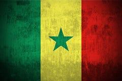 grunge bandery Senegal royalty ilustracja