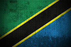 grunge bandery Tanzanii Fotografia Stock