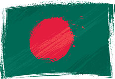 Grunge Bangladesh flag Stock Photos
