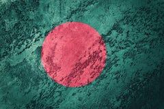 Grunge Bangladesh Markierungsfahne Bangladesch-Flagge mit Schmutzbeschaffenheit lizenzfreie stockfotos