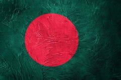 Grunge Bangladesh Markierungsfahne Bangladesch-Flagge mit Schmutzbeschaffenheit stockfotos
