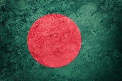 Grunge Bangladesh Markierungsfahne Bangladesch-Flagge mit Schmutzbeschaffenheit stockfotografie