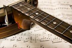 Grunge banjo Stock Images
