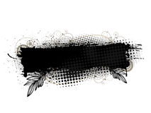 Grunge banner. Black grunge banner on white background. All elements are grouped Stock Photo