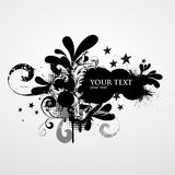 Grunge banner. With decorative elements stock illustration