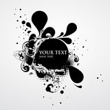 Grunge banner. With decorative elements royalty free illustration
