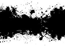 Grunge banner black Royalty Free Stock Image