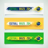 Grunge banner with Brazilian flag Stock Photography