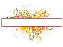 Grunge banner on floral background Stock Photo