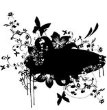 Grunge banner with floral element Royalty Free Stock Image