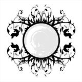 Grunge banner and floral ornament Royalty Free Stock Image