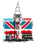 Grunge Banner - i love London Royalty Free Stock Image