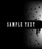 Grunge banner with an inky dribble strip with copy. Space Stock Image