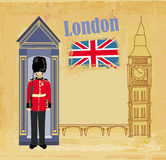 Grunge banner with London Royalty Free Stock Image