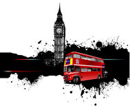Grunge banner with London images Royalty Free Stock Images