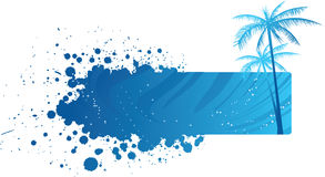Grunge banner with palm trees Royalty Free Stock Images