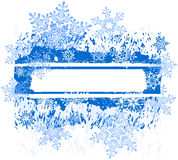 Grunge banner & snowflakes Stock Images