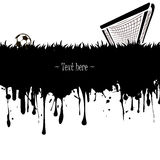 Grunge banner a soccer ball and gate Stock Photo