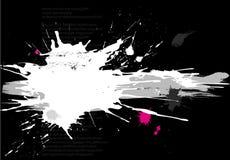 Grunge banner with splats royalty free illustration