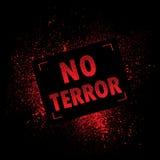 Grunge banner terror Royalty Free Stock Photos