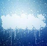 Grunge banner with white inky splashes.  Royalty Free Stock Photos