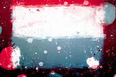Grunge banner. With white inky splashes Royalty Free Stock Photos