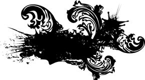 Grunge Banner With Ink Blot Royalty Free Stock Images