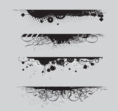 Grunge banners. Four different Grunge banners with place for your text stock illustration