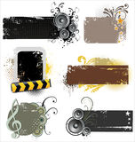 Grunge banners Stock Image