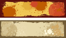 Grunge Banners Stock Photography