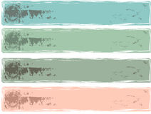 Grunge banners Royalty Free Stock Photography
