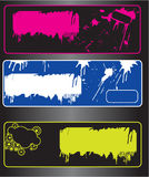 Grunge banners. With space for your text,illustration Stock Images