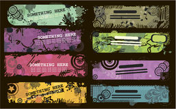 Grunge banners with place for text in vector Stock Image