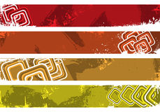 Grunge banners place your text here. Colorful separated banners with modern design elements Stock Photos