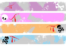 Grunge banners place your text here. Colorful separated banners with modern design elements Stock Images