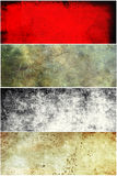Grunge banners set. Grunge dirty and scratched banners set Stock Photography