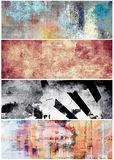 Grunge banners set Stock Photo