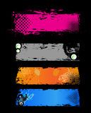 Grunge banners tickets royalty free illustration