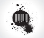 Grunge bar-code Stock Photo