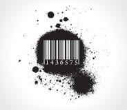Grunge bar-code Stock Photo