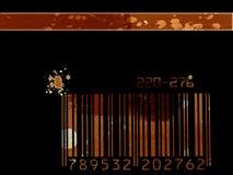 Grunge bar code background Stock Photos