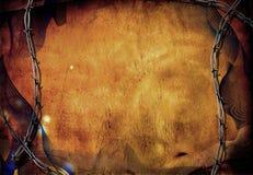 grunge barbed przewód Zdjęcie Royalty Free