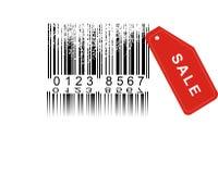 Grunge barcode. Blanc label with Grunge barcode vector illustration