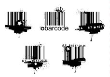 Grunge barcodes Royalty Free Stock Photos